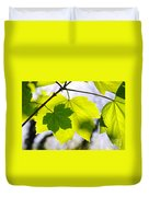 Green Leaves Duvet Cover by Carlos Caetano