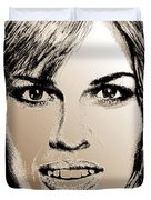 Hilary Swank In 2007 Duvet Cover by J McCombie