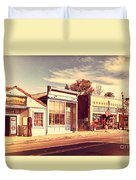 Historic Niles District In California Near Fremont . Main Street . Niles Boulevard . 7d10676 Duvet Cover by Wingsdomain Art and Photography