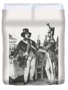 Honore De Balzac, French Author Duvet Cover by Photo Researchers