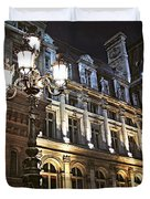 Hotel de Ville in Paris Duvet Cover by Elena Elisseeva