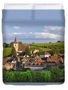 Hunawihr Alsace Duvet Cover by Brian Jannsen