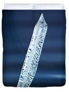 Icicle In Reverse Duvet Cover by Christine Till