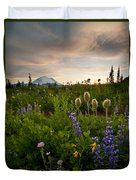 Lupine Sunset Duvet Cover by Mike  Dawson