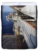 Marines And Sailors Fast-rope Duvet Cover by Stocktrek Images