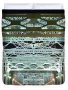 Nashville by Night Bridge 2 Duvet Cover by Douglas Barnett