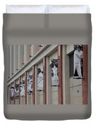 New York Mets Of Old Duvet Cover by Rob Hans