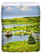 Newfoundland landscape Duvet Cover by Elena Elisseeva