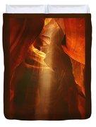 Pillars Of Light - Antelope Canyon Az Duvet Cover by Christine Till