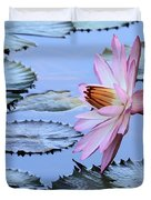 Pink Water Lily Duvet Cover by Sabrina L Ryan