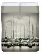 Port On A Rainy Day Duvet Cover by Joana Kruse