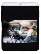 Rear-view Mirror Duvet Cover by Photo Researchers