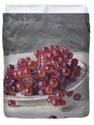 Red Grapes Duvet Cover by Ylli Haruni