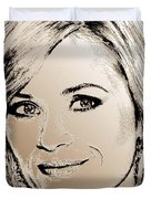 Reese Witherspoon in 2010 Duvet Cover by J McCombie