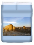 Ruins Of Shivta Byzantine Church Duvet Cover by Nir Ben-Yosef