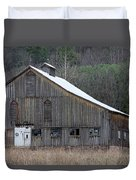 Rustic Weathered Mountainside Cupola Barn Duvet Cover by John Stephens