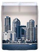 San Diego Skyline Duvet Cover by Paul Velgos