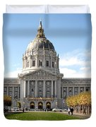 San Francisco City Hall - Beaux Arts At Its Best Duvet Cover by Christine Till
