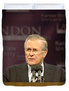 Secretary Of Defense Donald H. Rumsfeld Duvet Cover by Stocktrek Images