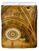 St Francis Basilica   Assisi Italy Duvet Cover by Jon Berghoff
