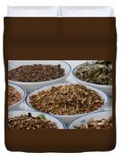 St Johns Wort Dried Herb Duvet Cover by Photo Researchers, Inc.