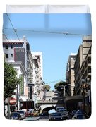 Stockton Street Tunnel in San Francisco Duvet Cover by Wingsdomain Art and Photography