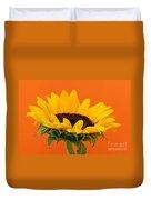 Sunflower Closeup Duvet Cover by Elena Elisseeva