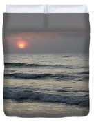 Sunrise Over Arabian Sea Hawf Protected Duvet Cover by Sebastian Kennerknecht