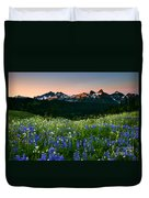 Tatoosh Dawn Duvet Cover by Mike  Dawson