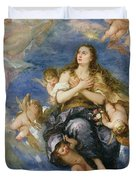 The Assumption of Mary Magdalene Duvet Cover by Jose Antolinez