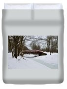 The Delaware Canal At Washington's Crossing Duvet Cover by Bill Cannon