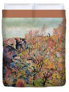 The Valley Of The Sedelle In Crozant Duvet Cover by Jean Baptiste Armand Guillaumin