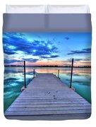 Tranquil Dock Duvet Cover by Scott Mahon
