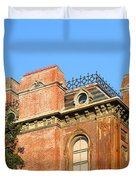 UC Berkeley . South Hall . Oldest Building At UC Berkeley . Built 1873 . The Campanile in The Back Duvet Cover by Wingsdomain Art and Photography