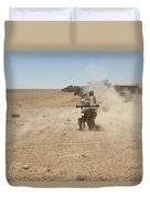 U.s. Marines Fire Several Duvet Cover by Stocktrek Images