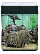 Vw Iltis Jeeps Of A Recce Scout Unit Duvet Cover by Luc De Jaeger