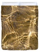 Water and sand ripples Duvet Cover by Elena Elisseeva