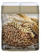 Wheat Ears And Grain Duvet Cover by Elena Elisseeva