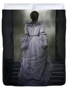 Woman On Steps Duvet Cover by Joana Kruse