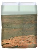 Panoramic View Of Mars Duvet Cover by Stocktrek Images