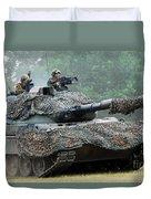 The Leopard 1a5 Main Battle Tank Duvet Cover by Luc De Jaeger