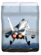 An Fa-18c Hornet Launches Duvet Cover by Stocktrek Images