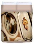1934 Packard 1104 Super Eight Phaeton Emblem Duvet Cover by Jill Reger