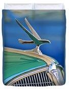 1935 Hudson Touring Sedan Hood Ornament Duvet Cover by Jill Reger