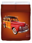 1947 Woody Duvet Cover by Jim Carrell