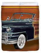 1948 Chrysler Town And Country Duvet Cover by Jack Pumphrey