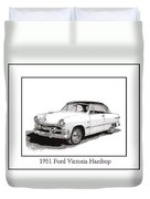 1951 Ford Victoria Hardtop Duvet Cover by Jack Pumphrey