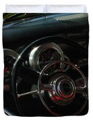 1953 Mercury Monterey Dash Duvet Cover by Peter Piatt
