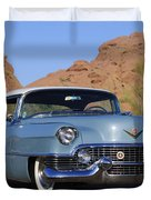 1954 Cadillac Coupe Deville Duvet Cover by Jill Reger