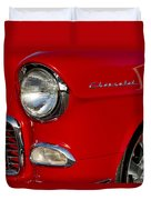 1955 Chevrolet 210 Headlight Duvet Cover by Jill Reger